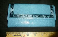 Vtg Princess Gardner Aqua Turquoise Blue Wallet/ Coin Purse Never Used