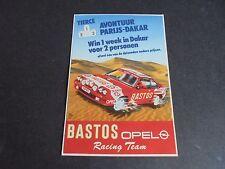 Sticker autocollant : Opel Manta - Bastos Racing Team - avontuur Parijs - Dakar