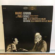 Haydn / Boccherini - Cello Concertos - Casals / Gendron (Epic BC1152) Vinyl LP