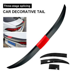 Adjustable Car Rear Modified Wing Tail Trunk Spoiler ABS Carbon Fiber Look + Red