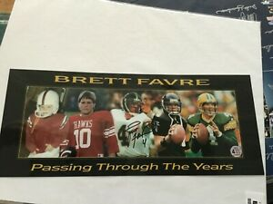 """Brett Favre """"Passing Through The Years"""" Signed Picture w/COA 8x18"""