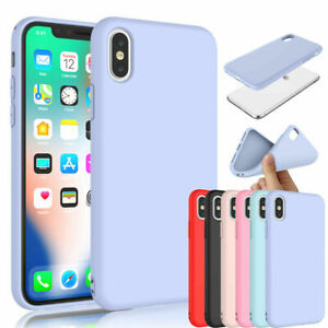 Liquid Silicone Case Camera Lens Cover For iPhone XS MAX XR X 8 7 SE Shockproof