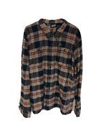 Vans Flannel Shirt Mens Size XL Blue Plaid Cotton L-333