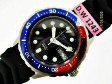 CHUNKY ORIENT DIVER DAY DATE AUTO PEPSI #469398-60 CA SS MIDSIZE DW1243 WATCH $1
