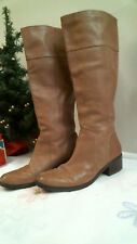 NINE WEST BOOTS size 8 M  Western / Fashion  BROWN LEATHER