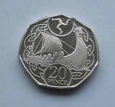 ISLE OF MAN VIKING SHIP 20p COIN ISSUED APRIL 2017 NEW FROM TOWER MINT (IN HAND)