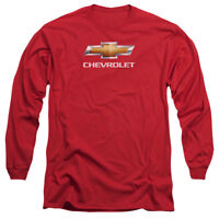 Chevrolet CHEVY BOWTIE STACKED Licensed Adult Long Sleeve T-Shirt S-3XL