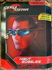 Vision Enhancing Night Goggles Spy Gear Bright LED Lights Blue Tinted Lenses New