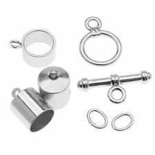 BeadSmith 8mm Silver Plated Barrel Shaped Kumihimo Findings Kit