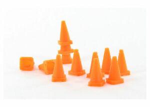 1:64 3D Printed Traffic cone - 18 pack orange Diorama Display Farm