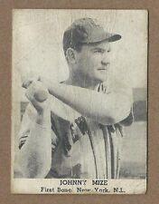 1947 Tip Top Bread Johnny Mize  New York Giants  -Poor-