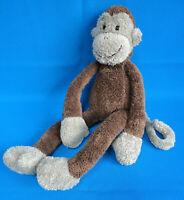 "RARE! retired 14"" tall BROWN & BEIGE MONKEY CHIMP SLACKAJACK soft toy * JELLYCAT"