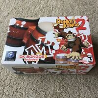 New Donkey Konga 2 Game + DK Bongos For Nintendo GameCube