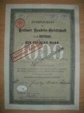 Berliner Handels - Gesellschaft  1904  Berlin    ING  BHF Bank
