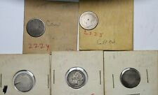 5 Better Date And Variety Canada Silver 10 Cent Dime Coins 1858 1874-H 1891 1894