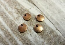 10 Metal Stamping Blanks Antiqued Copper Circle Jewelry Tags 8mm