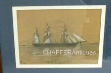 More details for rare pencil & chalk maritime drawing -hms pandora (uss jeannette) 1877 -signed,