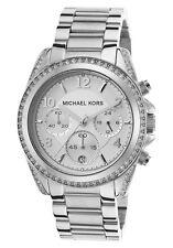 Michael Kors Blair Runway Silver Tone Chronograph Glitz Analog Watch MK5165