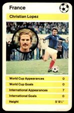Top Trumps World Cup 1978 - Christian Lopez France