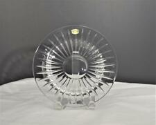 "NEW VAL ST LAMBERT BALMORAL CUT CRYSTAL 7"" SALAD PLATE~VERTICAL CUTS~SIGNED"