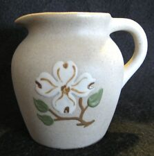 """DOGWOOD COFFEE CREAMER - THE PIGEON FORGE POTTERY Tennessee, Clean 3.5"""" Tall"""