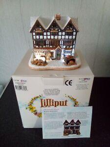 Lilliput Lane Christmas Feast..illuminated..with box and deeds.