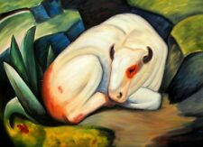 Franz Marc - The White Bull 80x110 cm Reproduction Oil Painting