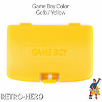 Game Boy Color GBC Battery Cover compartment Back Door - Yellow