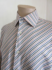 BRANDOLINI Men's Multi-Color Striped LUXURY Designer Dress Shirt 42 16 1/2 ITALY