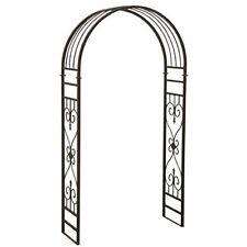 "Sunjoy L-Ab213Pst 87"" x 48"" Rounded Arch Design Steel Garden Arbor w Scrollwork"