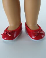 "Doll Clothes 18"" Shoes Dress Red Ballet Bow Fits American Girl Dolls"