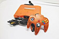 Nintendo 64 Clear Orange Black Console System JAPAN USED