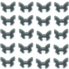 BUTTERFLYs Smooth Rhinestuds 10mm SILVER  1gr Hot Fix