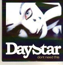 (CP470) Daystar, Don't Need This - 2011 DJ CD