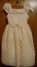 Marmellata Girls Ivory Glitter Holiday Birthday Party Wedding Dress Size 10