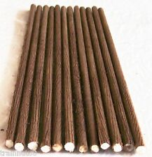 """HO Beautifully Customed Detailed 12 Pieces 1/4"""" Round Real Wood 12"""" Long Logs"""