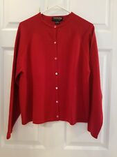 COUNTRY SHOP SOFT RED CARDIGAN CASHMERE SWEATER - WOMENS XL