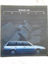 Subaru Loyale brochure 1990 USA market large format