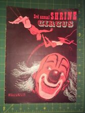 Vintage 3rd Annual Shrine Circus Souvenir Program Hawaii 1957