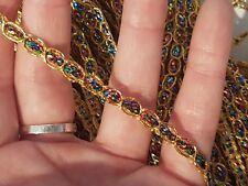 3m 6mm multicolour gold sequin bead trim braid cake decoration dance ribbon