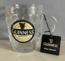 More details for guinness ireland label pint dimple tankard glass  new with tags