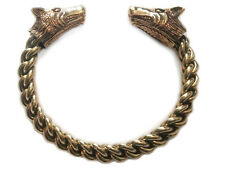 Wikinger Wolfskopf Damen Armreif Stark Bronze Gothic Schmuck - NEU