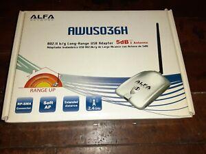 ALFA Network Long-Range USB Adapter 802.11 b/g 5dB Antenna (AWUS036H)