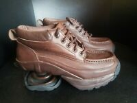 Z-coil Sandia Womens Size 5 Brown Leather Pain Relief Comfort Therapeutic Shoes