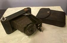 KODAK BOY SCOUT FOLDING CAMERA 127 IN NICE COND 1914-17 & LEATHER CASE