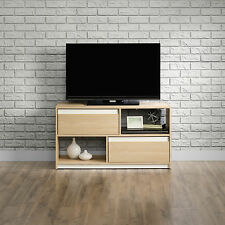 NEW Sauder Furniture 416897 Square1 Collection Urban Ash TV Stand w/ 2 Drawers