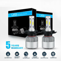 H4 9003 LED Headlight Conversion Kit Bulbs 980W 147000LM Hi/Low Beam 6000K