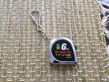 "OHIO FORGE Key Chain Tape Measure 6' long & 1/4"" wide"
