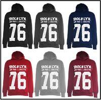 Womens Brooklyn 76 Varsity Sweatshirt Hoodie USA Hoody Top College Lounge Casual