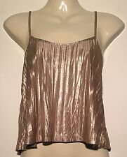 ❤️ Womens Gold Shimmer Soft TOP SHOP Singlet Top Size 6